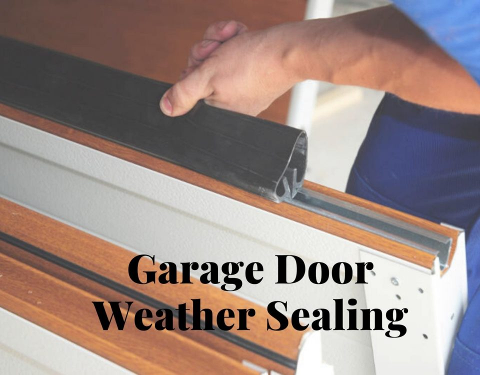 Garage Door Weather Sealing